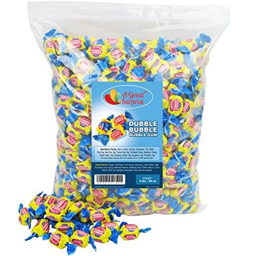 Dubble Bubble Bubble Gum, Original Flavor, 4 LB Bulk Candy -