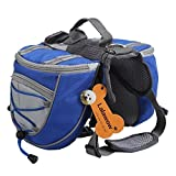 Lalawow Dog Pack Breathable Adjustable Easy Fit Saddle Bag...