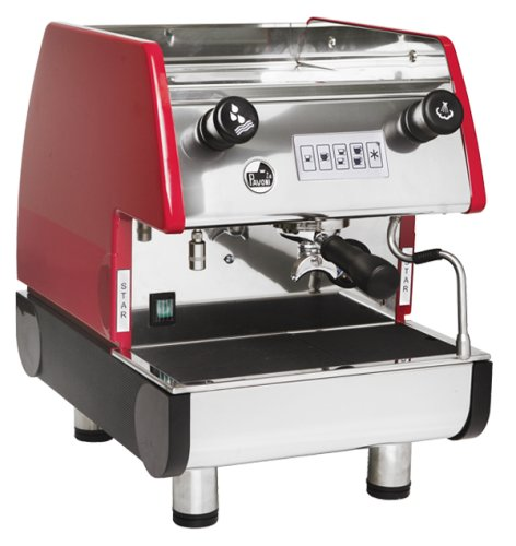 La Pavoni PUB 1V-R 1 Group Volumetric Espresso Machine, Anti-vacuum Valve, Copper Boiler, Ruby Red