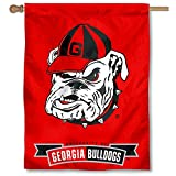 "Our Georgia Bulldogs House Flag measures 30"" x 40"" in size, has a Double Stitched Perimeter, is made of Single-Ply Polyester with 2-Ply Bottom Panel, and has a top pole sleeve for inserting your banner pole or flagpole. The Screen Printed logos are V..."