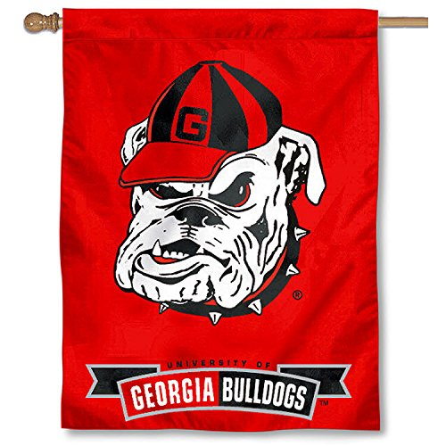 College Flags and Banners Co. University of Georgia Bulldogs House Flag