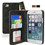 iPhone 6 Case, KHOMO [Book Collection] - Vintage Book Style Wallet Leather Cover for Apple iPhone 6 Air 4.7'' - Black