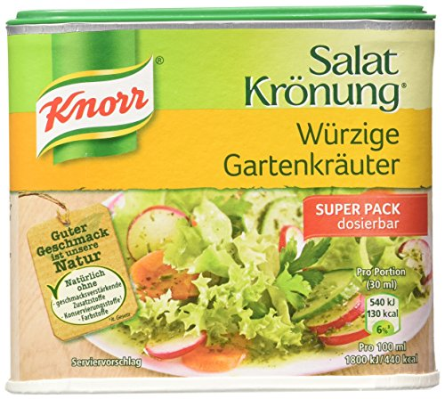 Knorr Salat Kroenung GartenKraueter (Garden Herbs Vinaigrette Mix) -Container for 2.1 (Garden Salad Dressing Mix)