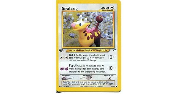 Pokemon Neo Destiny Common Card #66//105 Girafarig