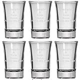 Personalized Set of 6 Shot Glasses (1.5oz) Free Engraving Groomsman and Bridesmaid Gift