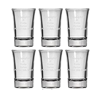 Personalised Engraved Wedding Knot Shot Glass Sample