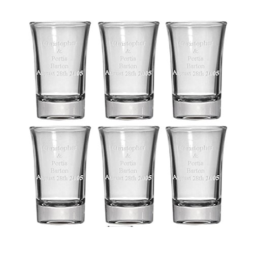Personalized Glass Shot Glasses (Set Of 6)