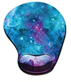 Galaxy Space Mouse Pad with Wrist Support Ergonomic Memory Foam Unique Design Mouse Pad