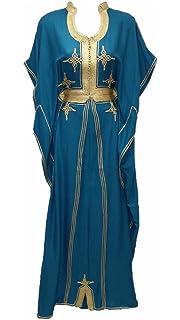 Maperla Robe Orientale gandoura Caftan marocain (Vert) 1115e71c475