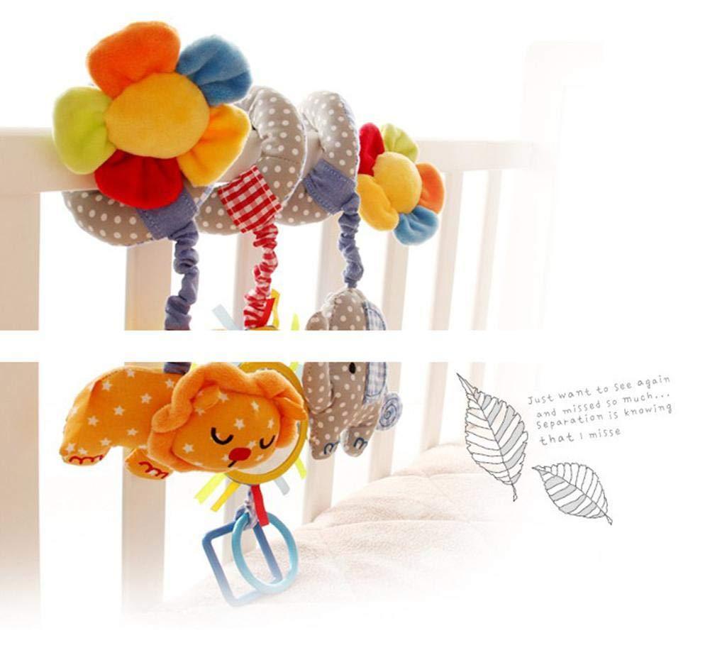 Depory Juguete Colgantes Espiral del Animales para Cochecito,Cama Cuna a Bebe,Juguetes para Beb/és y Primera Infancia,Colgantes para Cochecitos con Multicolor