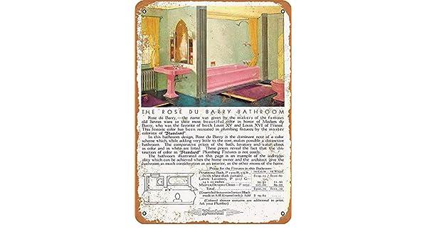 Rose du Barry Bathroom Cartel de Metal Decoración de la Pared ...