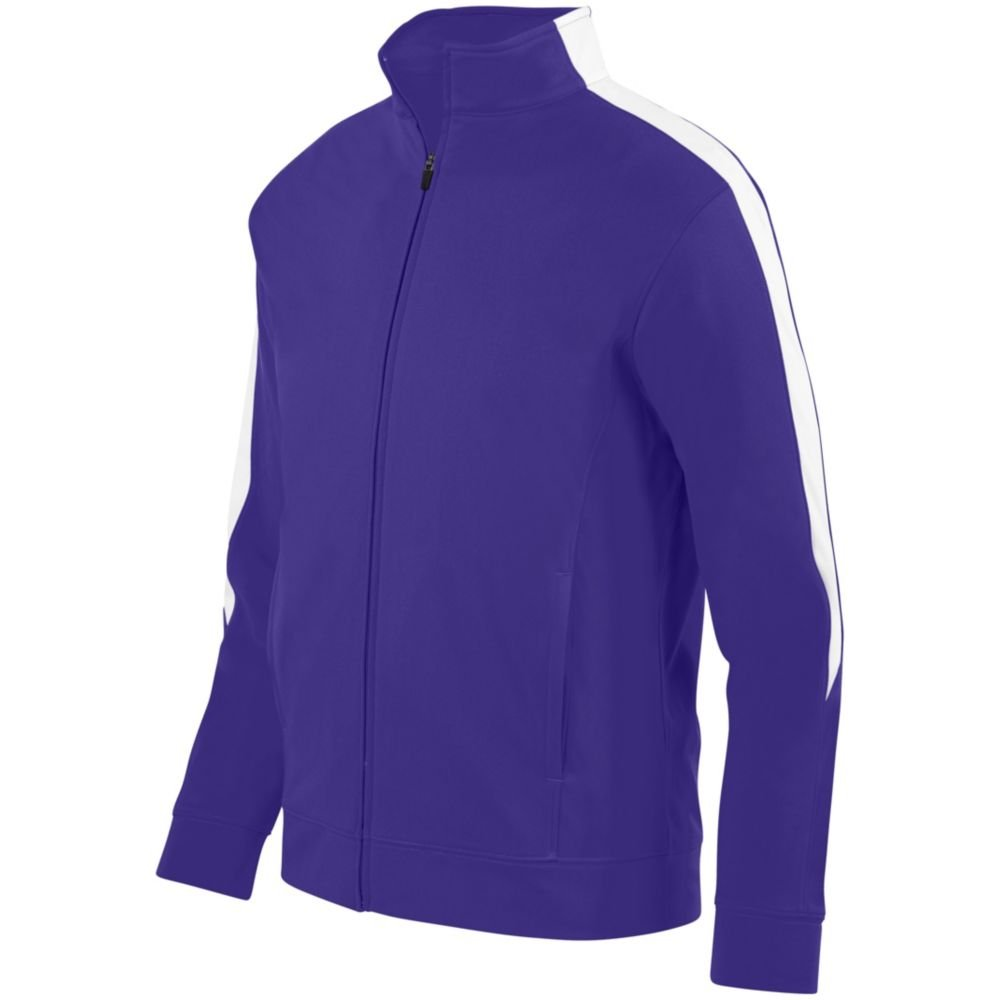 Augusta Sports Youth Medalist Jacket 2.0, Purple/White, Large