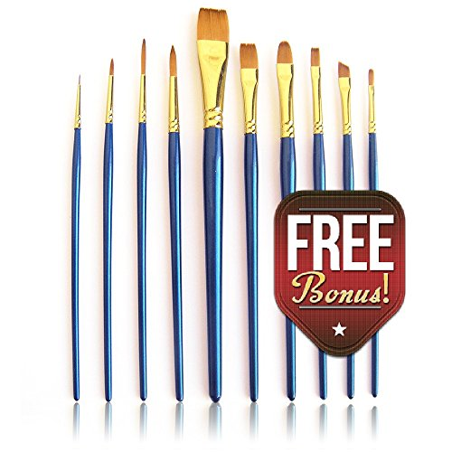Art Brushes Paint Brush Set 10pc ASTARA® Acrylic Watercolor