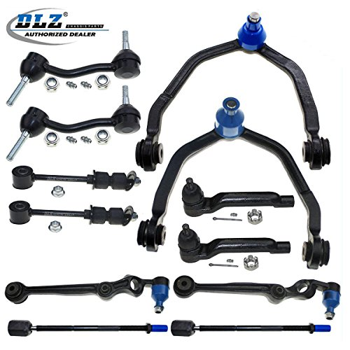DLZ 12 Pcs Suspension Kit-2 Upper 2 Lower Front Control Arm & Ball Joint, 2 Outer 2 Inner Tie Rod End, 2 Front 2 Rear Sway Bar for 1993 1994 1995 1996 1997 Ford Thunderbird, Mercury Cougar Ford Thunderbird Sway Bar