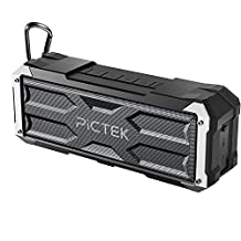 Bluetooth Speakers, [20W 30Hour 4400MAH] Pictek Wireless Speakers, Portable Speakers,[Upgraded Version]Shockproof Waterproof Outdoor Dual-Driver with 30-Hour Playtime with Superior Sound