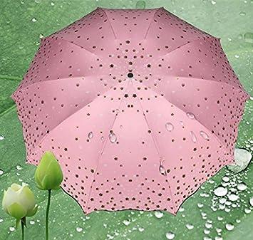 Anti-UV paraguas de sol plegable triple con protección UV sombrilla paraguas plegable, diseño