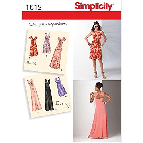 Simplicity 1612nbsp;Größe AA Schnittmuster Knit Kleid Schnittmuster ...