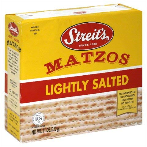 STREITS MATZO LIGHTLY SALTED-11 OZ -Pack of 12
