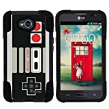 MINITURTLE Case Compatible w/ LG Ultimate 2 Case Hard Shell Cover Hybrid Gel Silicone Bumper, LG Optimus L70 Game Controller