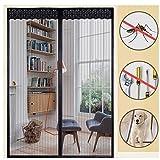 Rabbitgoo Magnetic Screen Door Heavy Duty Screen Mesh & Full Frame Adhesive Strip Top-to-Bottom Seal Hands Free Door Curtain Fits Door Opening Up to 60
