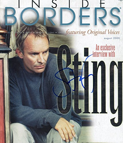 STING / The Police signed August 2000