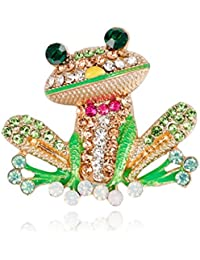 Frog Brooch Pins for Women Men, Enamel Rhinestone Colorful, Pack of 10