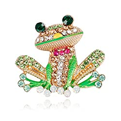Frog Brooch Pins Jewelry With Rhinestone