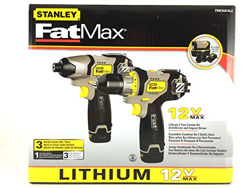 Stanley FatMax 12V Cordless Combo Drill and Impact Driver FMCK014L2 ...
