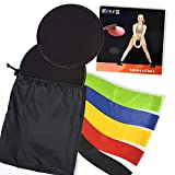Evanto Resistance Bands & Gliding Discs Set Includes: 2 Core Sliders and 5 Different Levels Exercise Loop Bands for Home Gym - Perfect for Full-Body Workout, Muscle Strength, Stability & Stamina train