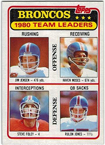 1981 Topps Denver Broncos Team Set with Craig Morton & Randy Gradishar - 15 NFL Cards -