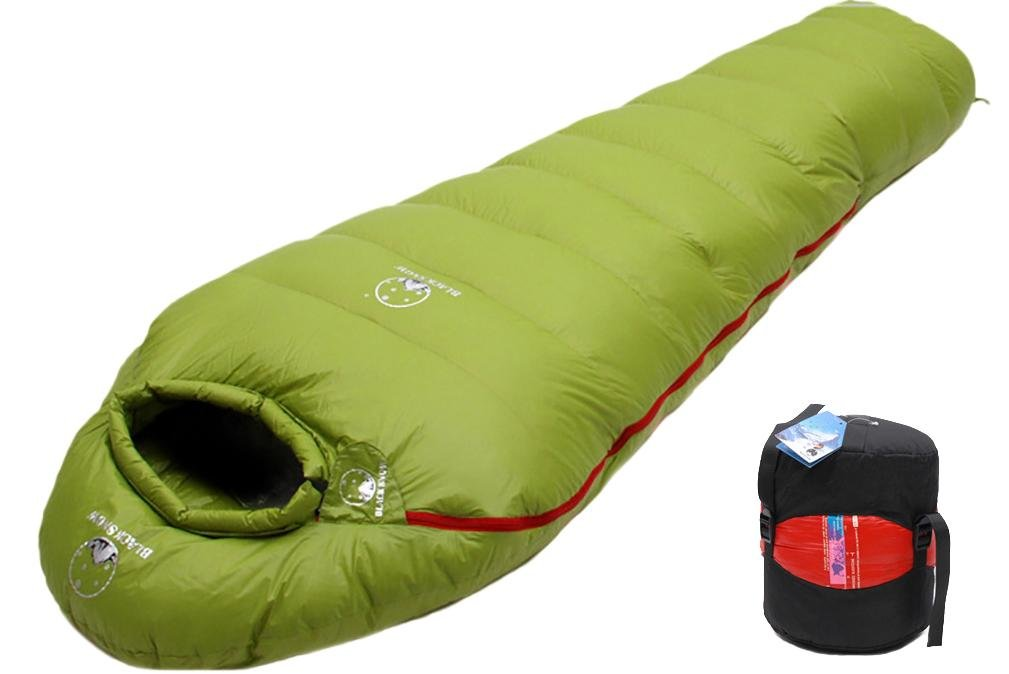 Mummy Goose Down Sleepingバッグアウトドアキャンプ大人用Keep Warm機器Gentle 400 g-1600g グリーン 1600g