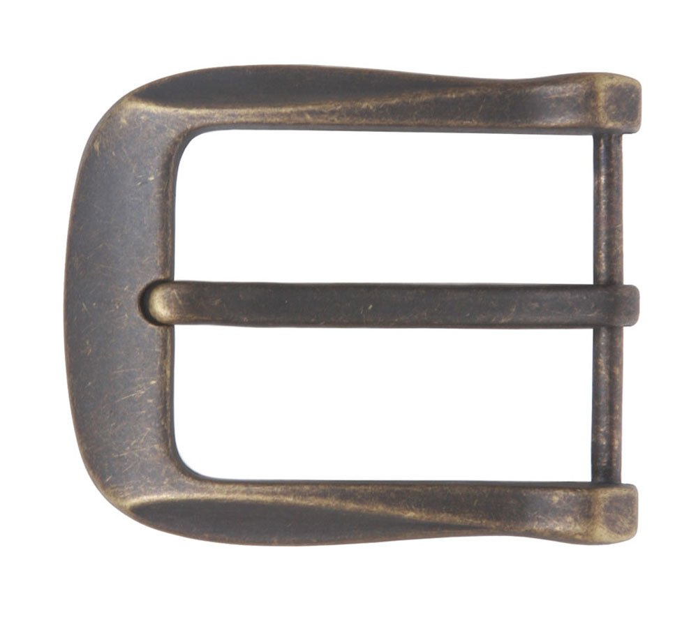 1 1/2 (38 mm) Nickel Free Single Prong Rectangular Belt Buckle, Antique Brass Beltiscool 272040:A002