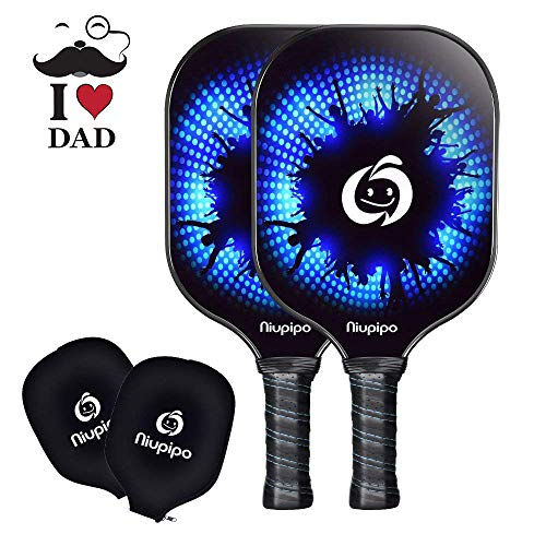 Pickleball Paddle, USAPA Approved, 2 Graphite Pickleball Paddles Set Lightweight Pickleball Rackets 8oz Honeycomb Composite Core, Edge Guard Ultra Cushion 4.5In Grip Pickleball Racquet with 2Cover