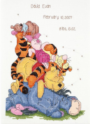 - Janlynn Cross Stitch Kit, Snoozy Day Birth Announcement