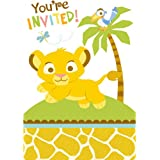 Amazon disney lion king baby shower invitations 8 count party baby lion king sweet circle of life invitations w envelopes 8ct filmwisefo