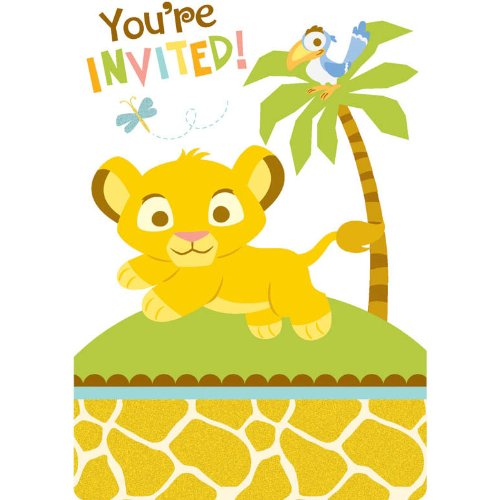Amazoncom Baby Lion King Sweet Circle of Life Invitations w