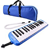 32 Piano Keys Melodica Musical Instrument for Education Teaching and Playing (Blue)