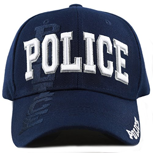 The Hat Depot Law Enforcement Police Officer 3D Embroidered Baseball Cap (Police-Navy)