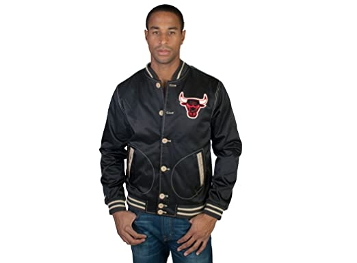 e4d8a1b77 Mitchell & Ness The Chicago Bulls Game Changer Satin Jacket in Black,Extra  Extra Large