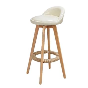 ERRU- Chaise de bar en bois massif tournant chaise haute Tabouret de ...