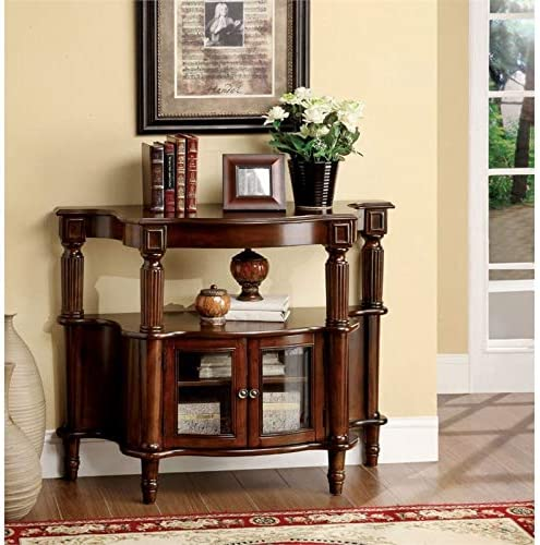 Furniture of America Spearman Wooden Classic Console Table in Antique Walnut