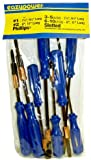 Eazypower 82784 8-Piece Spring Clip Screwdrivers Set Includes Slotted and Phillips Tips