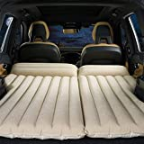 """HOMETAK Car Air Mattress Bed for SUV Trunk Long Size 77"""" Inflatable Pad Camping with Electric Pump Thickened Minivan Truck Quick Inflation/Deflation Tent (Light Brown)"""