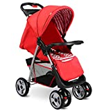 Best Ace Baby Car Seats - Costzon Baby Stroller, Foldable Infant Pushchair with 5-Point Review