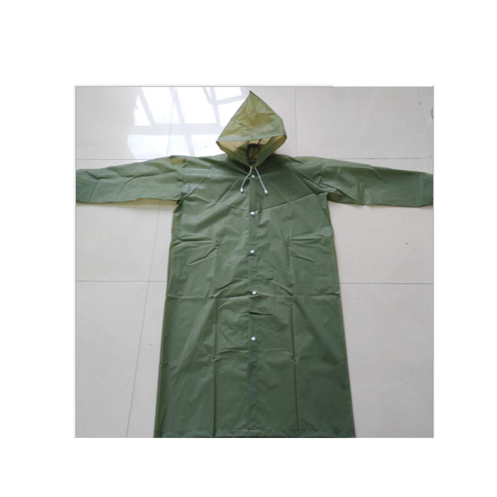 Army vert Set Of 40 Pieces Clothing longueur  119cm Poncho de pluie imperméable unisexe en EVA imperméable avec capuche et hommeches Veste imperméable imperméable pour le camping et les activités de plein air (vert arm&eacu