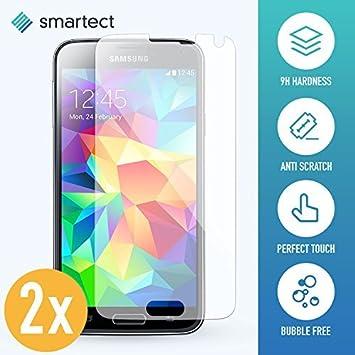 smartect Cristal Templado para Móvil Samsung Galaxy S5 / S5 Neo [2 ...