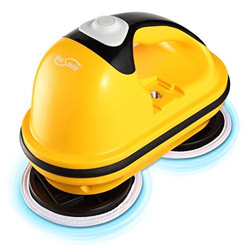 Housmile Electric Polisher, Power Floor Mop, Rander Orbit Polisher for Cleaning Hardwood Floor and Tile (Dual-disc)