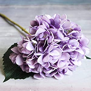 GSD2FF Artificial Flowers 1PC Hydrangea Bouquet for Home Decoration Flower Arrangements Wedding Party Decor,Purple,China 63