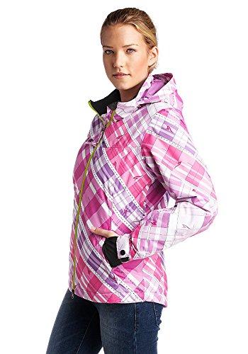 Maui Wowie Snowboardjacke Jacke Winterjacke Skijacke Damen pink weiß Gr. S