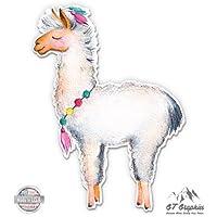"Cute Llama Watercolor - 3"" Vinyl Sticker - For Car Laptop I-Pad Phone Helmet Hard Hat - Waterproof Decal"